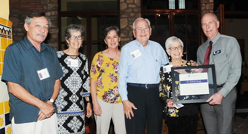 mccorkle receiving award