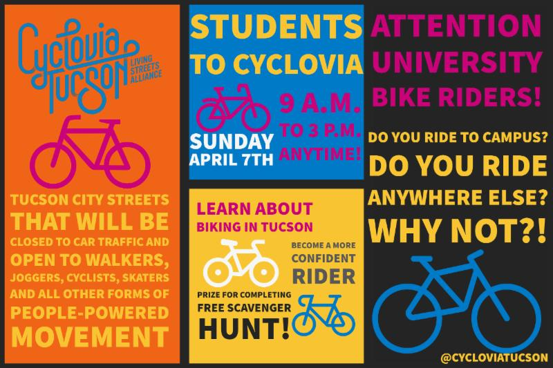 Students to Cyclovia event information