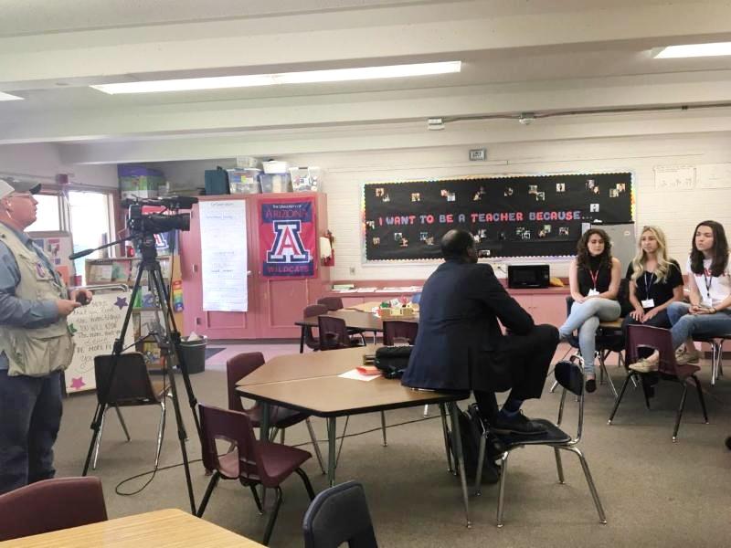 students on KOLD news
