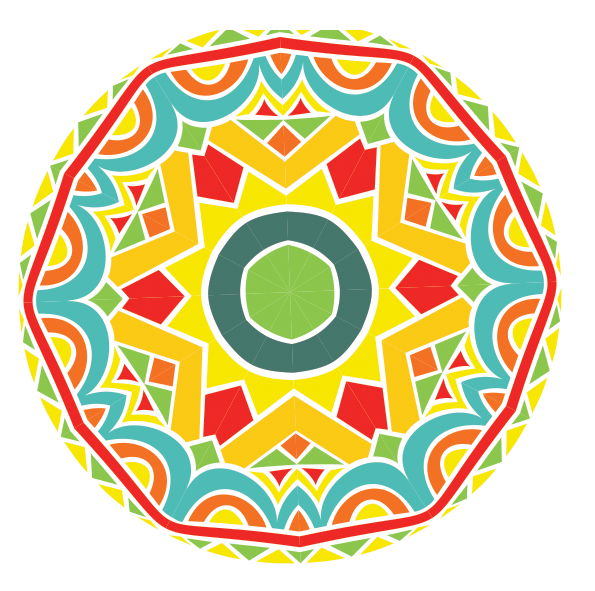 colorful graphic image of circle