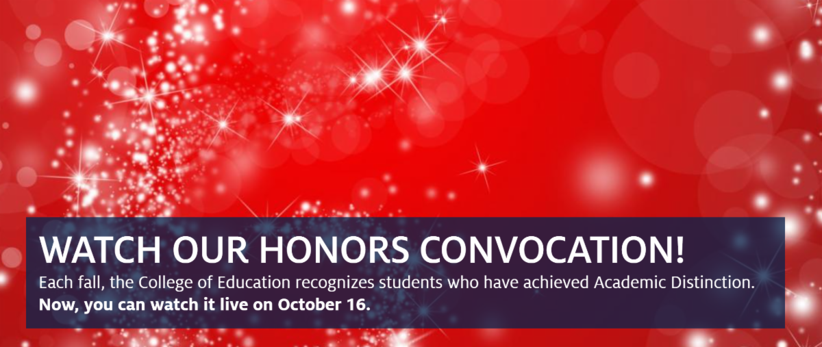honors convocation banner