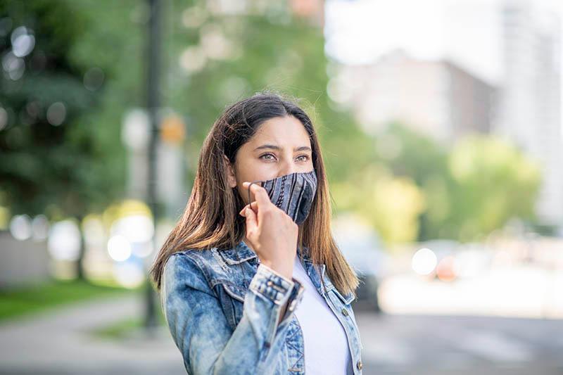 hispanic student wearing mask