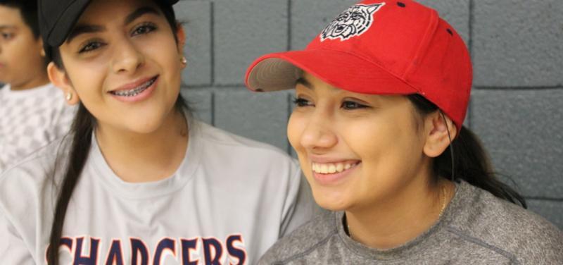 Cholla High School seniors Anyssa Montaño and Jessica Valdez