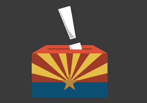 illustration of ballot in arizona