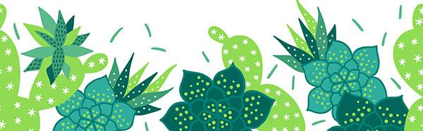 cactus border illustration