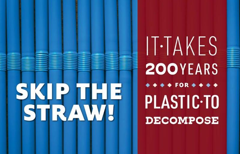 skip the straw poster