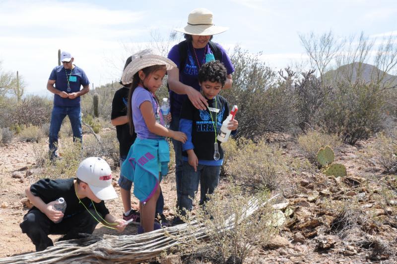 kids in the desert at cooper