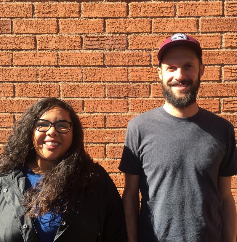 Students James Burton and Rebecca Perez