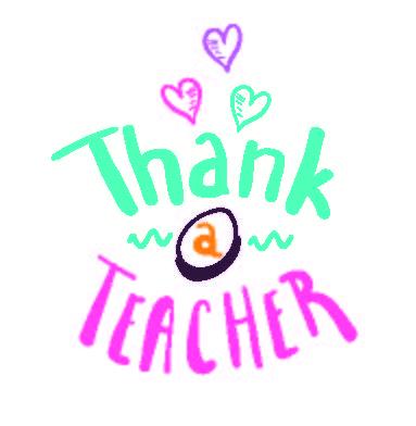 thank a teacher illustration