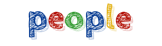 colorful letters spelling the word people