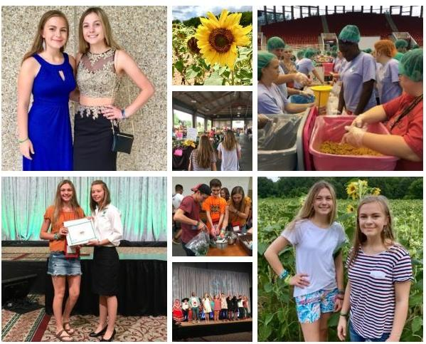 Collage of North Carolina 4-H Congress experience.