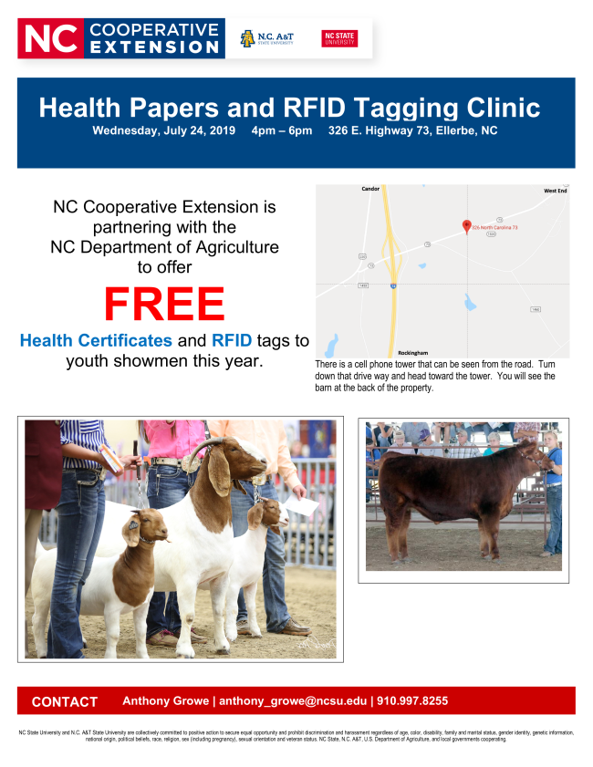 Health Papers and RFID Clinic Flyer