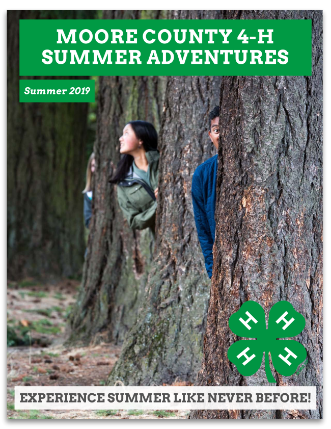 Moore County 4-H Summer Adventures 2019