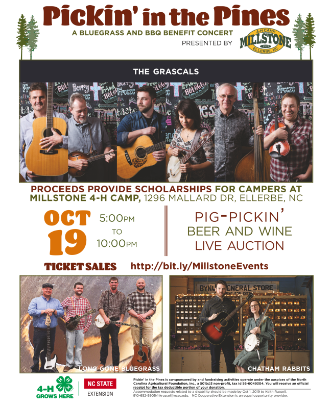 Pickin' in the Pines Event Flyer