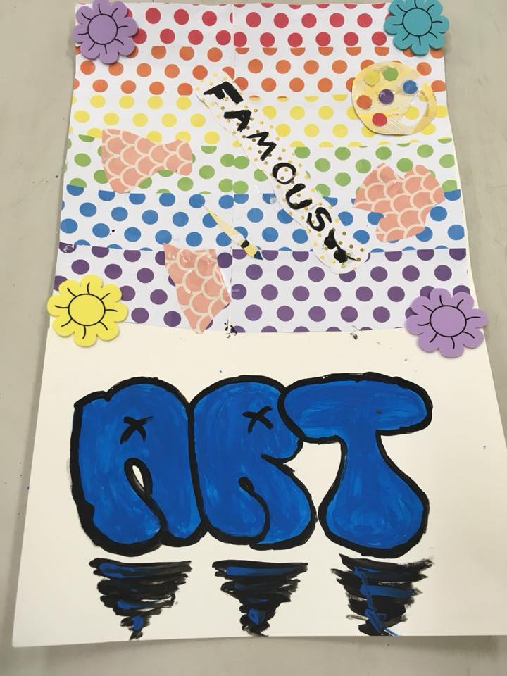 Vision board created by a camp participant