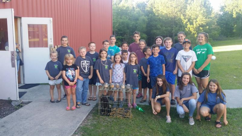 The Growing Farmers club members learned about pigs at their club meeting