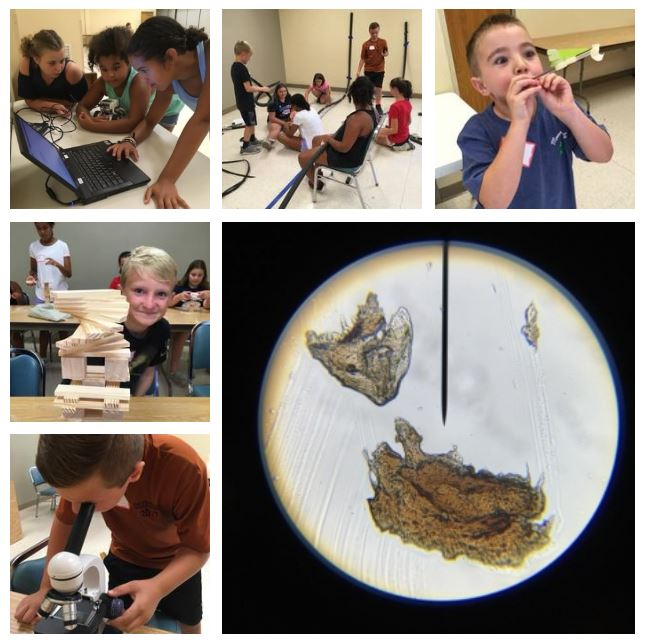 Collage of our STEM Camp experience.