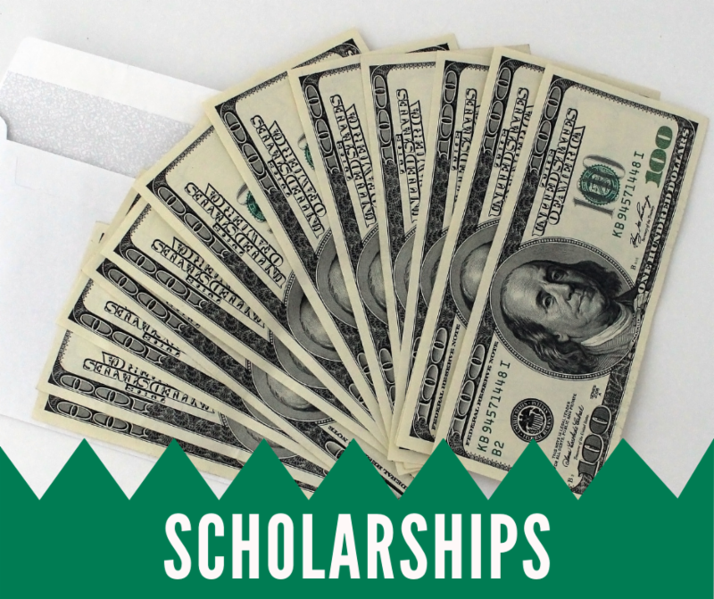 Scholarships - envelope with money