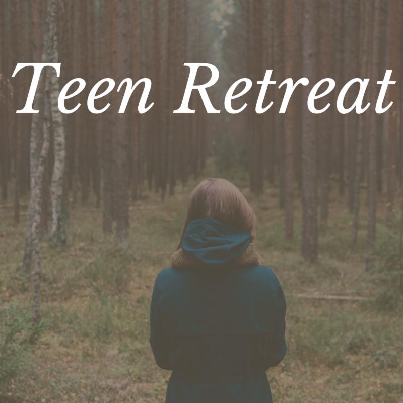 Teen Retreat - girl standing in the woods