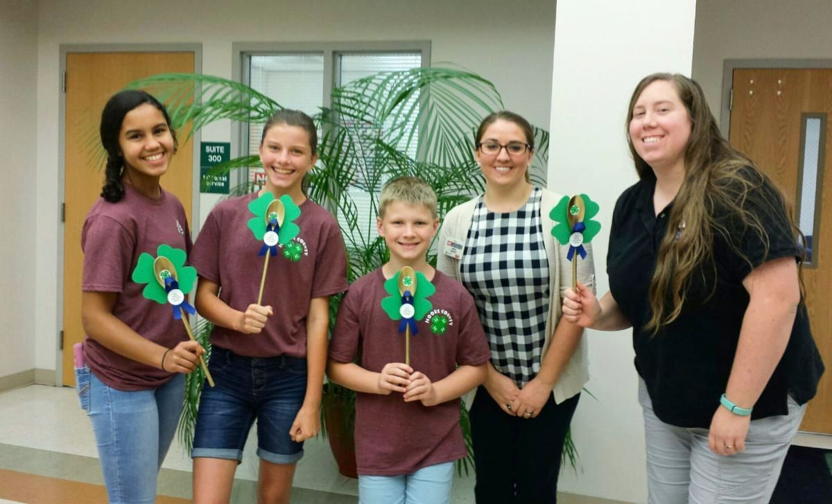 The Moore County 4-H crew with their awards