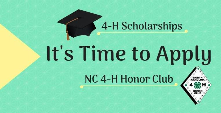 It's Time to Apply for 4-H Scholarships and NC 4-H Honor Club
