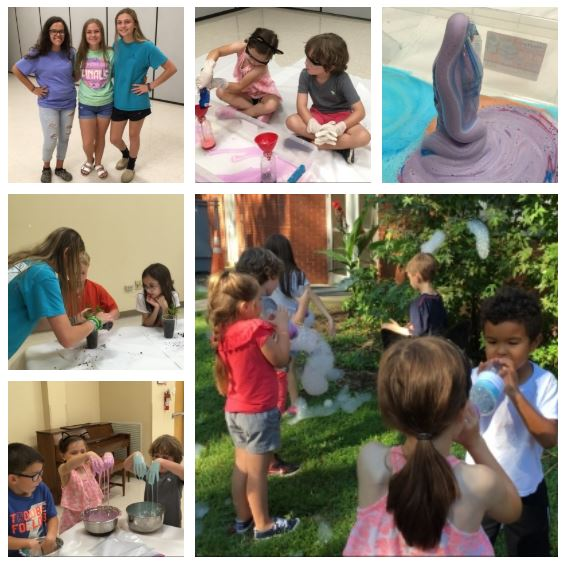 Collage of 4-H Cloverbud STEM Camp experience.