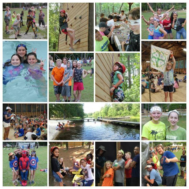 Collage of Millstone 4-H Camp experience.