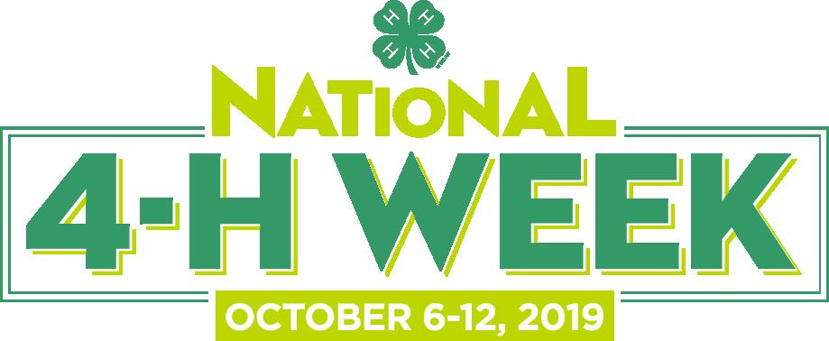 National 4-H Week Banner - October 6-12 2019
