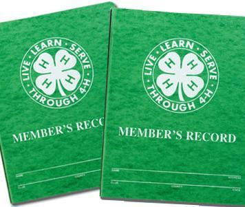 4-H Project Record Books