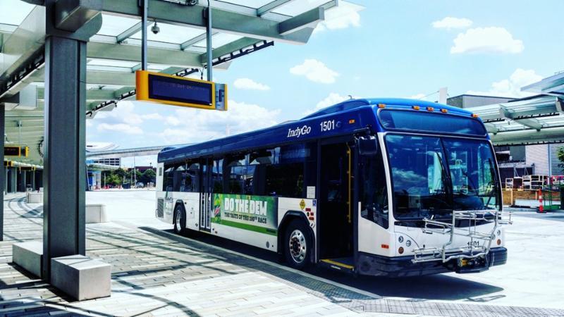 bus at transit center