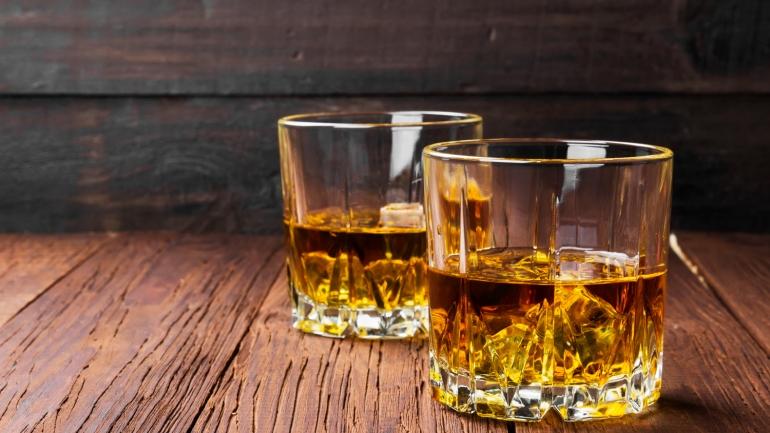 Whiskey in glasses