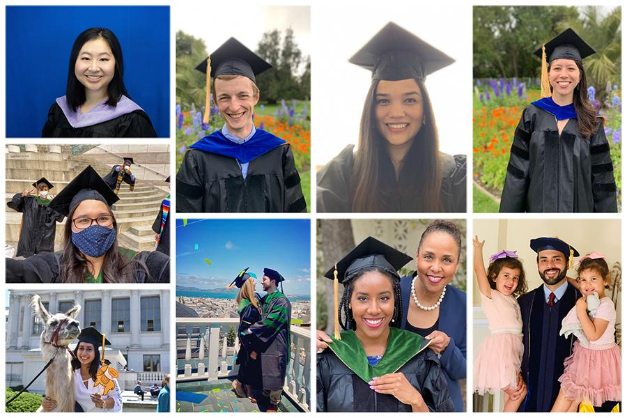 Collage of graduates in robes