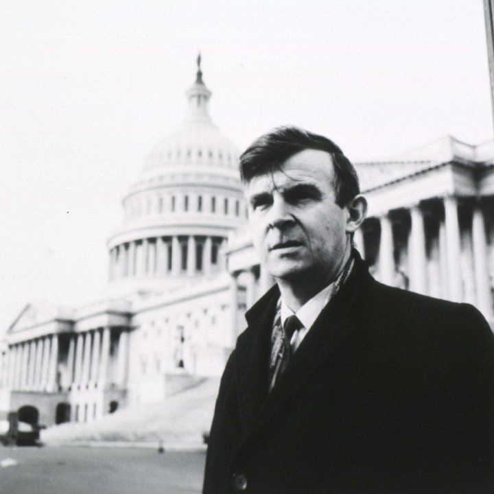 Philip R Lee at Washington DC capitol building as a younger man