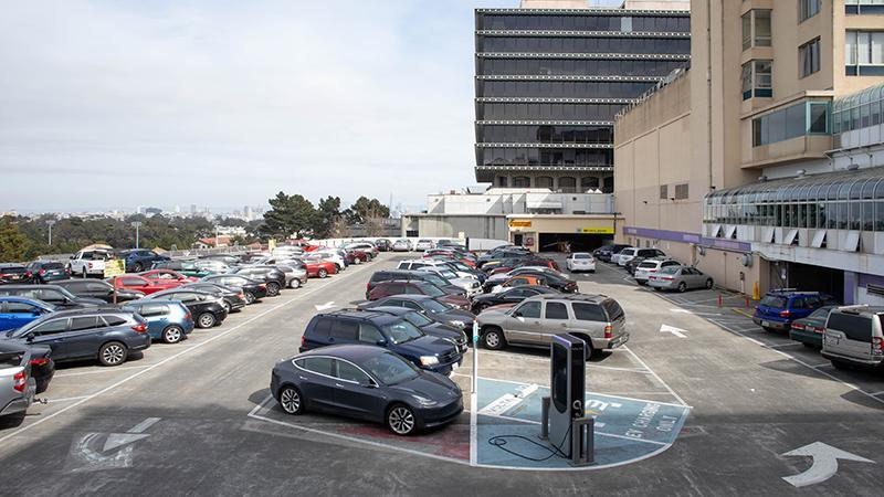 Parnassus parking lot