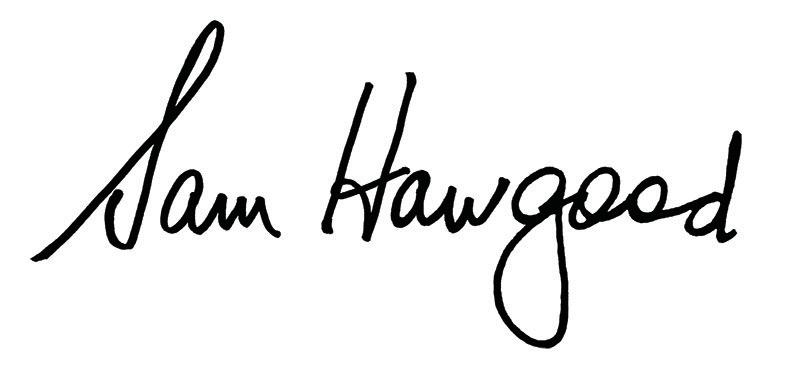 Sam Hawgood Signature