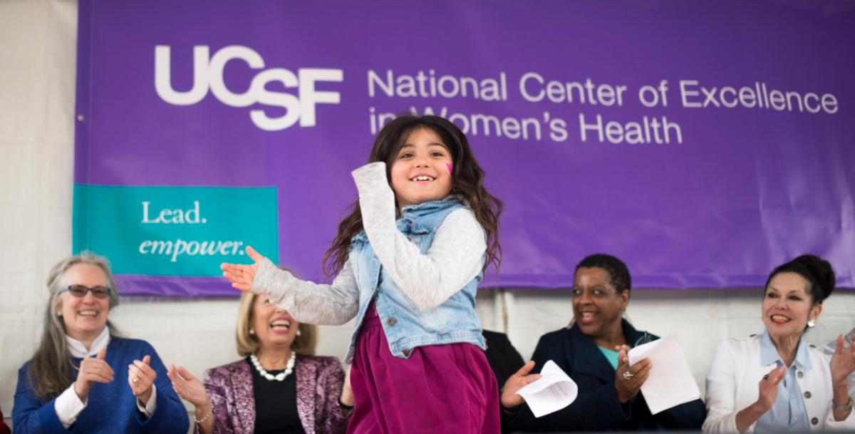 Child dancing at a previous women's day celebration