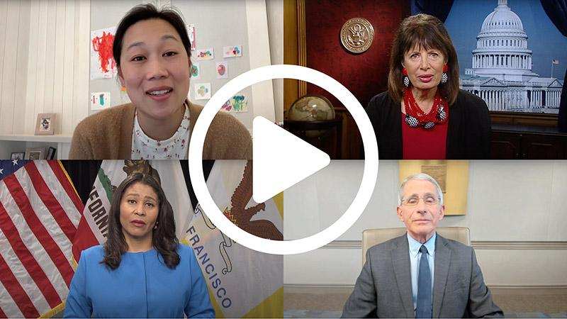 Priscilla Chan London Breed Jackie Spieir and Anthony Fauci