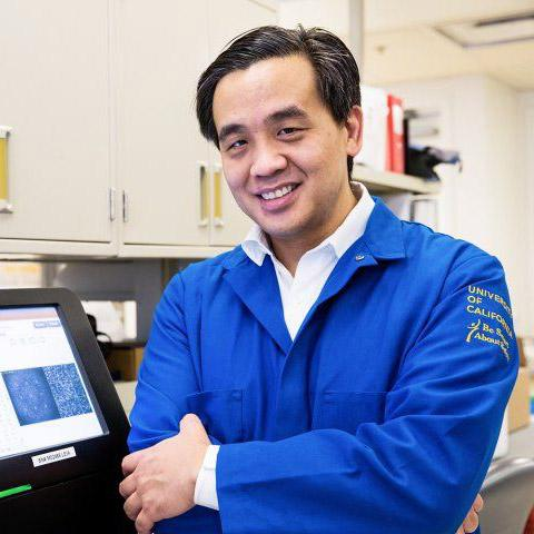 Charles Chiu in his lab