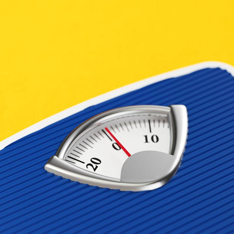 Bathroom scale with weight measurement