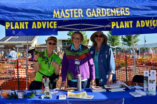 Plant Advice table at 2018 Spring Garden Market by Malar Bose