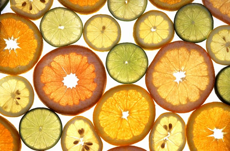 Variety of citrus slices from USDA website