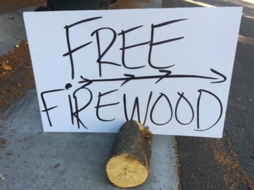 Free Firewood Sign by Karey Windbiel-Rojas