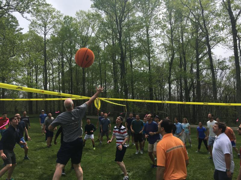 4-Way-Volleyball team building at Primland Resort Virginia