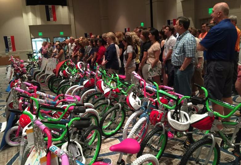 Bike Building for kids in need in Austin Texas