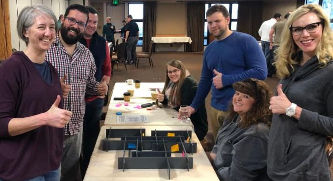 The Maze is a popular table team building game.