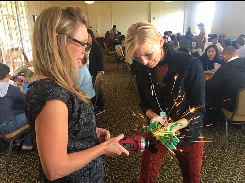 CSR Team Building assembling 3D Printed Prosthetics