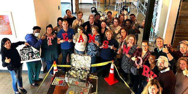 Nashville Team takes on Escape the Case game