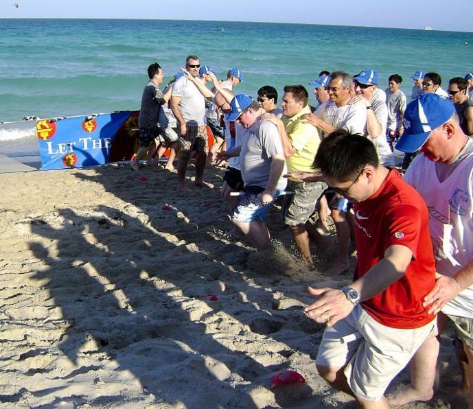 Beachside TeamBuilding in Los Cabos Mexico
