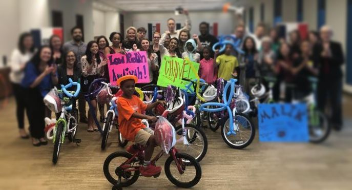 Building Bikes Kids in Need Houston
