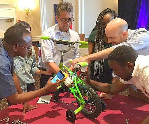 World Bank engages in Bike Building for kids in need in Virginia.